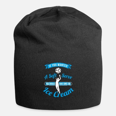 Beachvolleyball Soft serve - cadeau-ijs van het volleybal-ijs - Jersey-Beanie