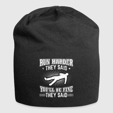 Running Runner T Shirt Run Harder They Said - Jersey Beanie