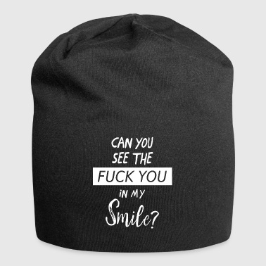 Can you see? | Cool Fuck you quote gift - Jersey Beanie