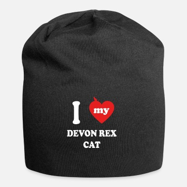 Devon i love fat cats DEVON REX CAT - Jersey Beanie
