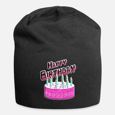 Happy Birthday Happy Birthday Cake Pink - Jersey-Beanie