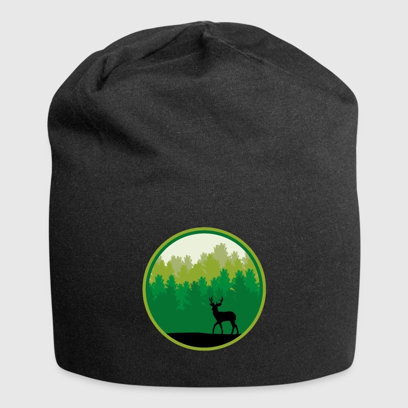 Deer forest trees wildlife deer antler nature - Jersey Beanie