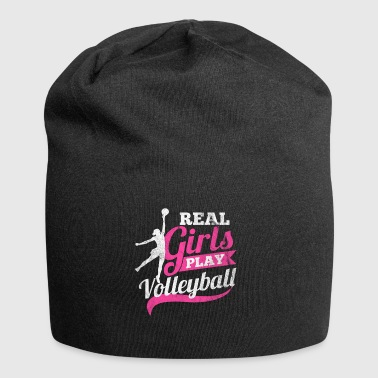 Real women play volleyball - Jersey Beanie