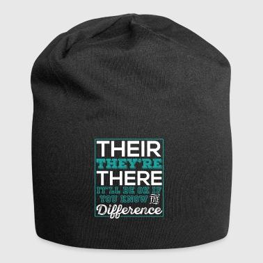 Their Grammar Shirt Funny English - Jersey Beanie