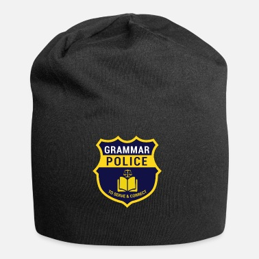 Officialbrands Grammer Police Gift for Nerds, Gift Nerds - Jersey Beanie