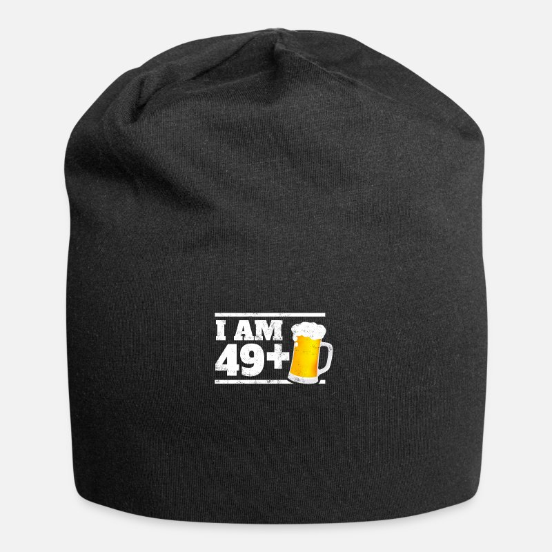 Funny 50th Birthday Gift 49 1 Beer Fun Beanie