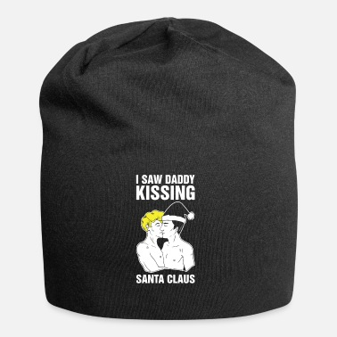 Bisexual I Saw Daddy Kissing Santa Claus Funny Gay Bisexual - Jersey Beanie