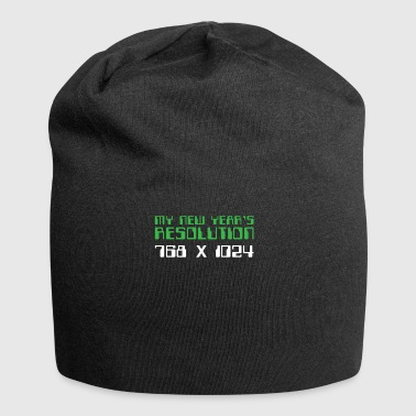 My New Year's Resolution 768X1024 Funny Holiday - Jersey Beanie