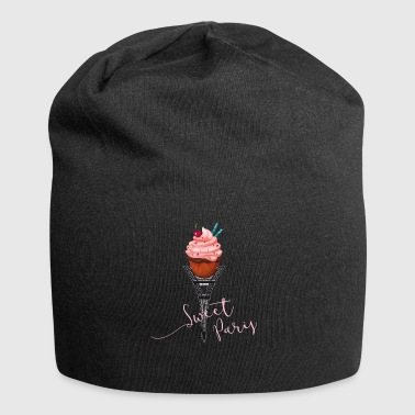 sweet paris cupcake love trip france eiffel tower LO - Jersey Beanie