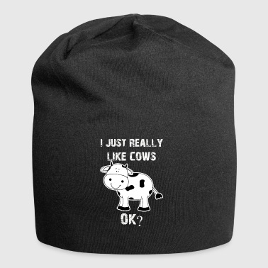 Cow, cows, cow, Cow funny farmer - Jersey Beanie