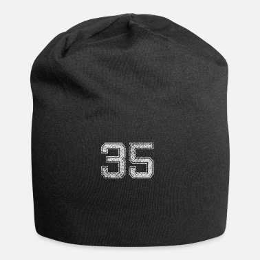 Shirtnummer Number 35 Number Thirty-vijf drie vijf gift - Jersey-Beanie