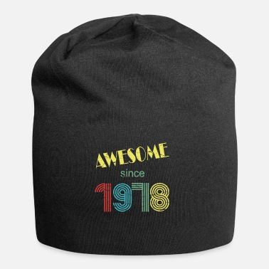 Awesome since 1978 retro distressed look - Beanie