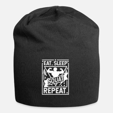 Squat Eat Sleep Squat Repeat - Squat - Beanie in jersey