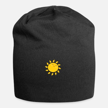Funny sun summer holiday funny gift smile - Jersey Beanie