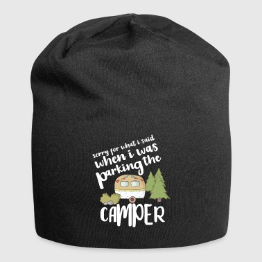 Camping campsite camping caravan - Jersey Beanie