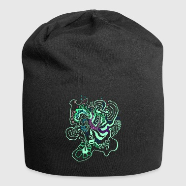 Coral Map / Flora Topography - Jersey-Beanie