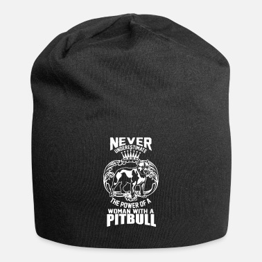Satyr The power of a woman with a pitbull dog cute - Jersey Beanie