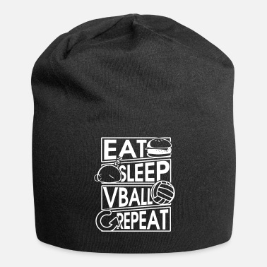 Volley Mangez Sommeil Vball Repeat Volleyball Gift - Bonnet en jersey