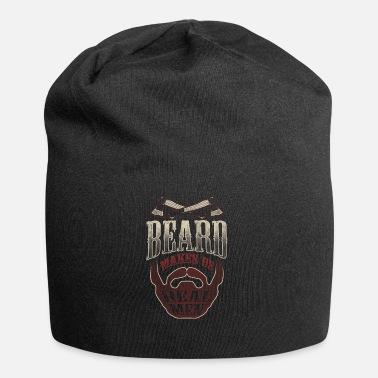 77806d99600 Bearded Beard Makes Us Real Men - Beard Care Beard Man - Beanie