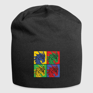 Dragon Popart - Beanie in jersey