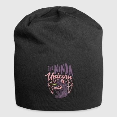 Ninja Unicorn - martial arts rainbow mythical creature - Jersey Beanie