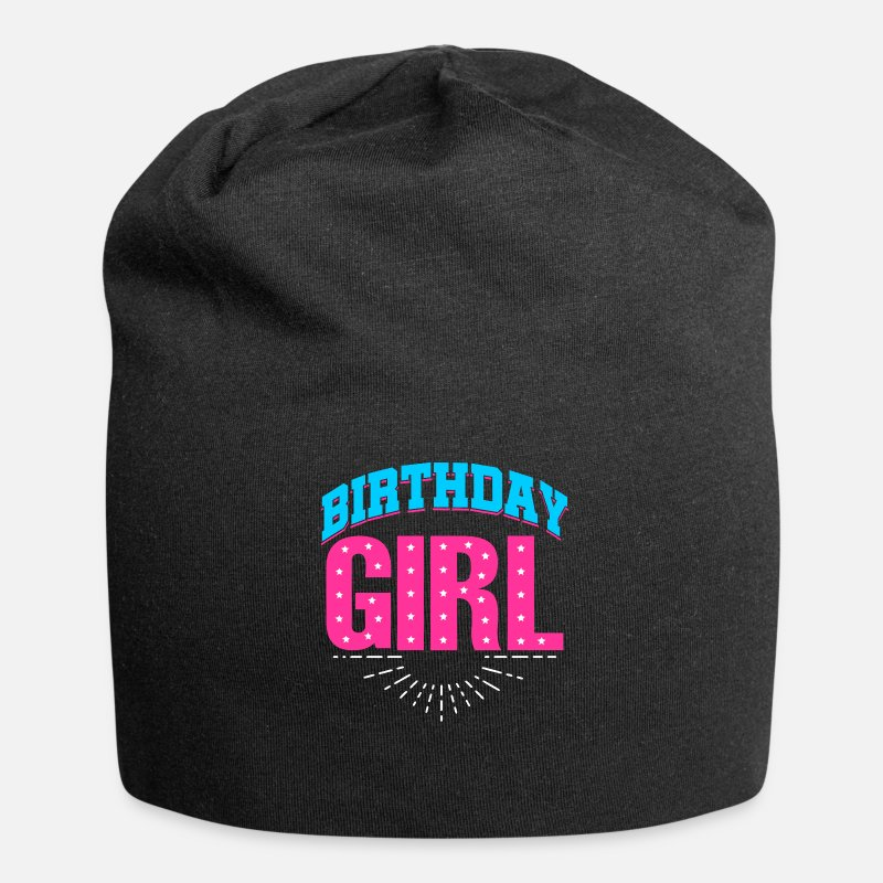 Birthday Girl Caps & Hats - BIRTHDAY GIRL - Beanie black