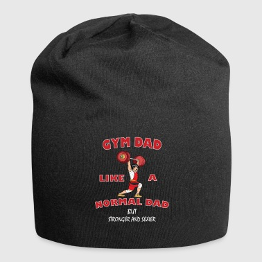 GYM DAD- Fitness Dad Funny Gift Gym Daddy - Beanie in jersey