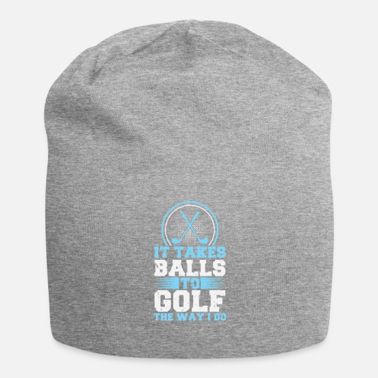 Golf Caps & Hats - It takes balls to golf like that! Golf Golf Club - Beanie heather grey