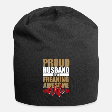 Married Couple Husband wife married couple wedding married ring - Jersey Beanie