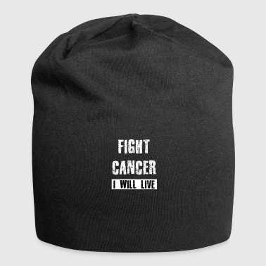 Fight cancer - I will live - Jersey Beanie