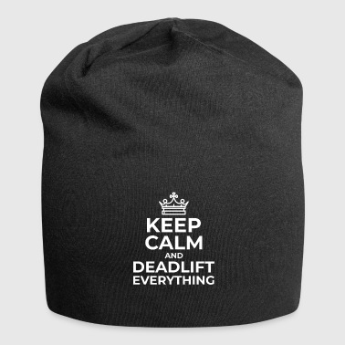 Keep Calm Deadlift Heavy Deadlift entraînement de force - Bonnet en jersey