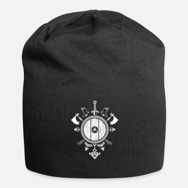 Celtic Knot Coat of arms with Celtic knot (dark background) - Jersey Beanie