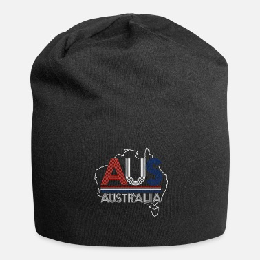 Outback Australia Map Outback Sydney Kangaroo - Jersey Beanie