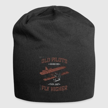 Helicopter Old pilots fly higher - Jersey Beanie