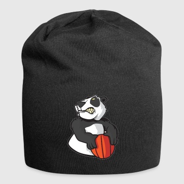 Basketball Streetball Panda Cartoon Gift. - Jersey Beanie