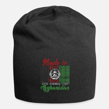 Afghanistan Made In Afghanistan - Barcode Gift Idea - Jersey Beanie