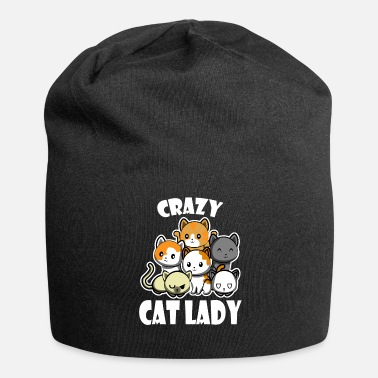 Cat Crazy cat lady - Jersey Beanie