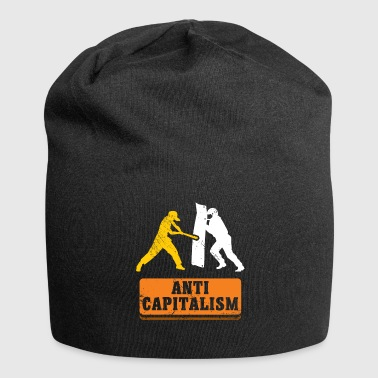 Anti Capitalism - Against Capitalism Say - Jersey Beanie