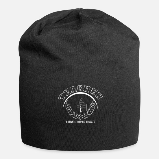 Teacher Caps & Hats - Teacher - Beanie black