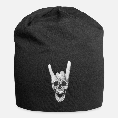 Horns Heavy metal music skull devil horn sign - Beanie