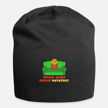 Cool Awesome Trend Design Fryday T-shirt Fryday Night Couch Potatoes - Gorro holgado de tela de jersey