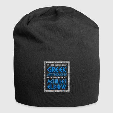 Poor Knowledge Greek Mythology Achilles Elbow - Jersey Beanie