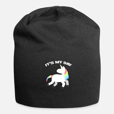 Birthday Unicorn Rainbow Birthday Birthday Girl - Jersey-Beanie