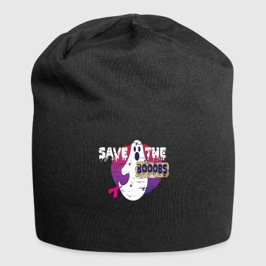Breast Cancer Ribbon Anti Cancer Breast Cancer Ribbon Halloween Gift - Jersey Beanie
