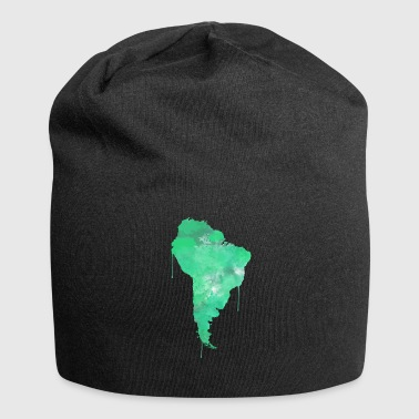 South America South America Continent watercolor - Jersey Beanie