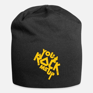Hardrock You Rock me up lustiger Spruch Geschenk - Beanie