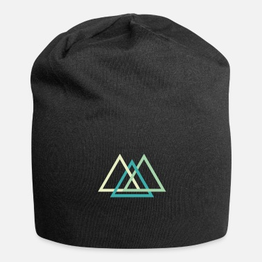 Quadrat Geometric shapes triangles - Jersey Beanie