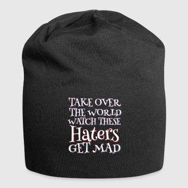 Haters Gonna Hate Haters Gonna Hate Tshirt Design HATERS GET MAD - Gorro holgado de tela de jersey