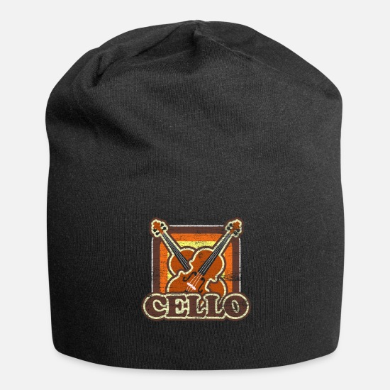 Gift Idea Caps & Hats - Cello string instrument music instrument gift - Beanie black