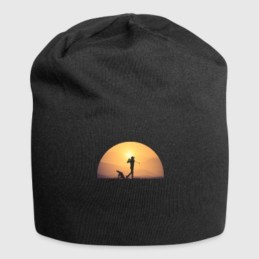 Golf Swing Golf swing Golf round at sunrise - Jersey Beanie